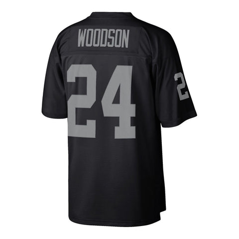 Charles Woodson 1998 Oakland Raiders Mitchell & Ness Home Black Legacy Jersey