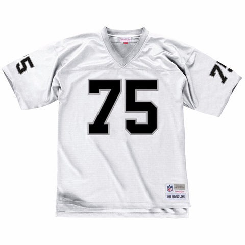 Howie Long 1988 Oakland Raiders Mitchell & Ness Road White Legacy Jersey Men's