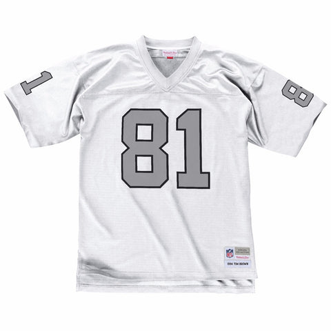 Tim Brown 1994 Oakland Raiders Mitchell & Ness Road White Legacy Jersey Men's