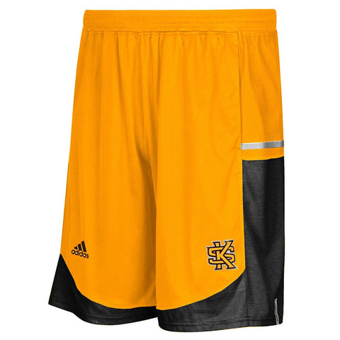Kennesaw State Owls Adidas NCAA Mens Gold Climalite  Basketball Shorts