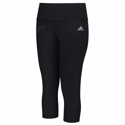 Utah Jazz NBA Adidas 3/4 Performer Tonal Logo Black Tights Women's S
