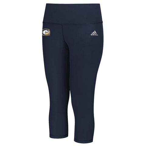 UC Davis Aggies  NCAA Adidas Women's Navy Blue Performer Mid Rise 3/4 Tights