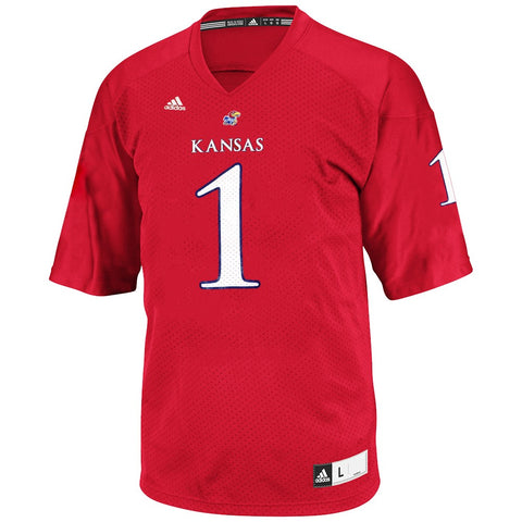 Kansas Jayhawks Adidas NCAA Official Crimson Red Football Replica Jersey Men's