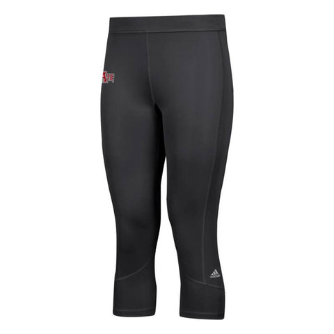 Arkansas State Red Wolves NCAA Adidas Women's Black Techfit Solid 3/4 Tights