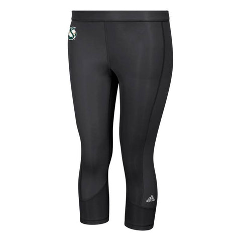 Sacramento State Hornets NCAA Adidas Women's Black Techfit Solid 3/4 Tights