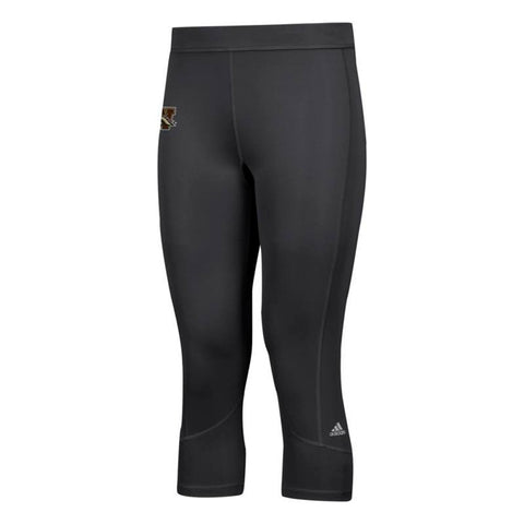 Western Michigan Broncos NCAA Adidas Women's Black Techfit Solid 3/4 Tights