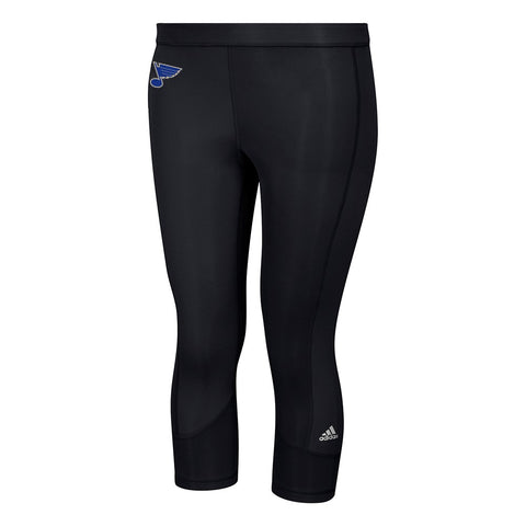 St. Louis Blues NHL Adidas Women's Black Techfit Solid 3/4 Tights