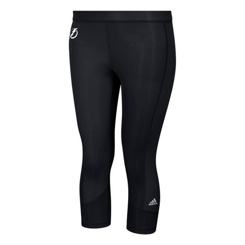 Tampa Bay Lightning NHL Adidas Women's Black Techfit Solid 3/4 Tights