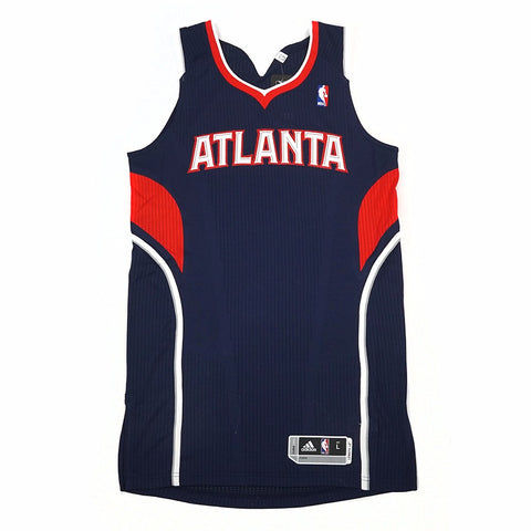 Atlanta Hawks adidas Authentic On-Court Team Issued Pro Cut Navy Jersey Men's