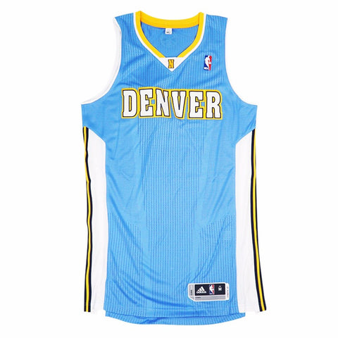 Denver Nuggets adidas Authentic On-Court Team Issued Pro Cut Blue Jersey Men's