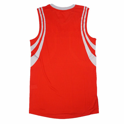 Houston Rockets adidas Authentic On-Court Team Issued Pro Cut Red Jersey Men's