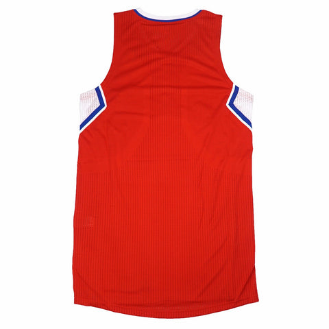 Los Angeles Clippers Authentic On-Court Team Issued Pro Cut Red Jersey Men's