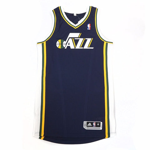 Utah Jazz adidas Authentic On-Court Team Issued Pro Cut Navy Blue Jersey Men's