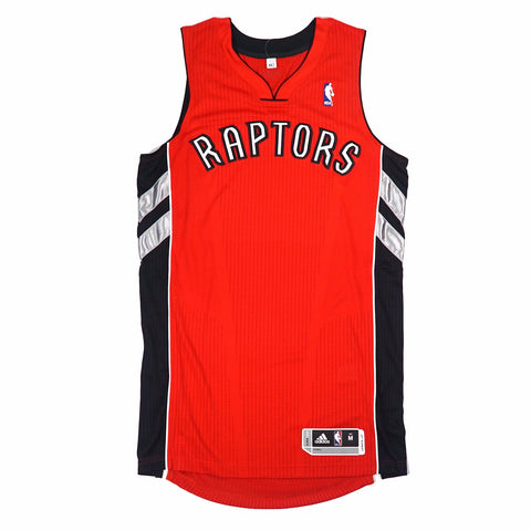 Toronto Raptors adidas Authentic On-Court Team Issued Pro Cut Red Jersey Men's