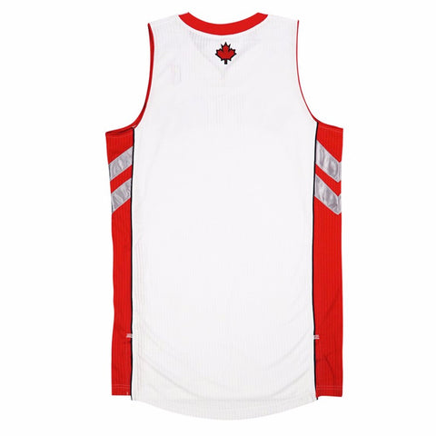 Toronto Raptors adidas Authentic On-Court Team Issued Pro Cut White Jersey Men's