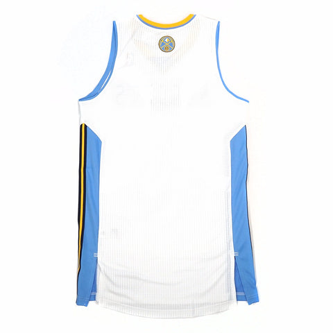 Denver Nuggets adidas Authentic On-Court Team Issued Pro Cut White Jersey Men's