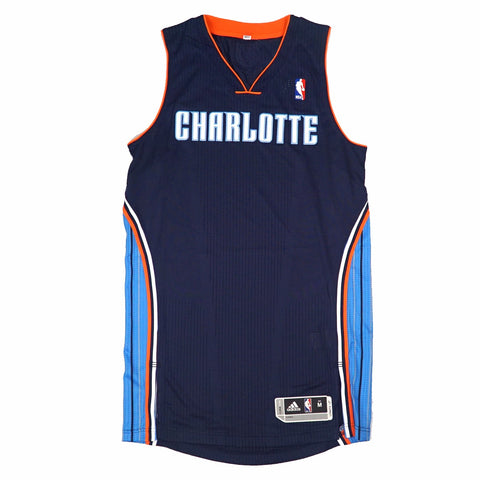 Charlotte Bobcats Authentic On-Court Team Issued Pro Cut Navy Jersey Men's