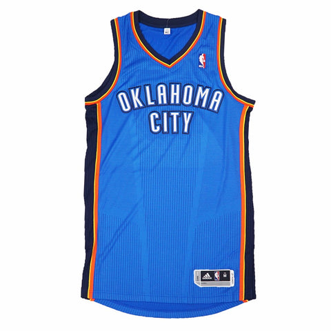 Oklahoma City Thunder Authentic On-Court Team Issued Pro Cut Blue Jersey Men's