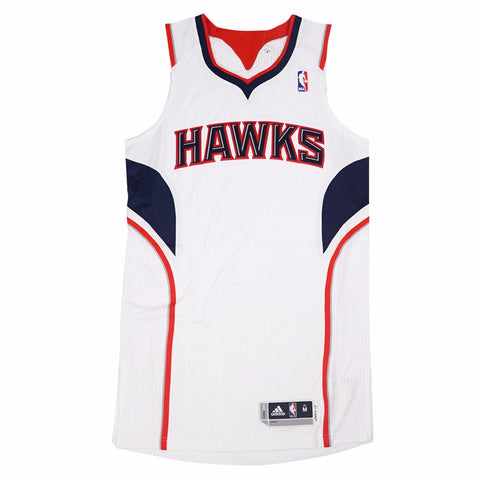 Atlanta Hawks adidas Authentic On-Court Team Issued Pro Cut White Jersey Men's
