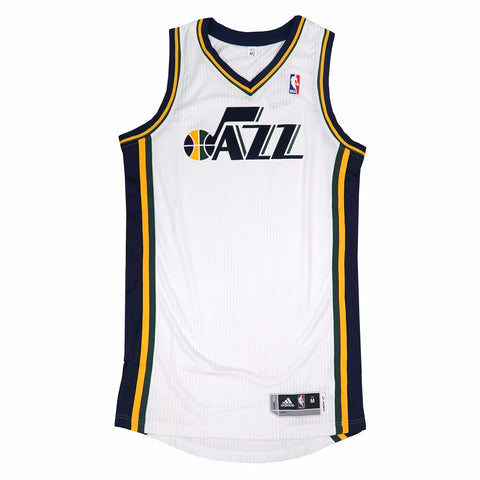 Utah Jazz adidas Authentic On-Court Team Issued Pro Cut White Jersey Men's