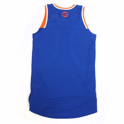 New York Knicks adidas Authentic On-Court Team Issued Pro Cut Blue Jersey Men's