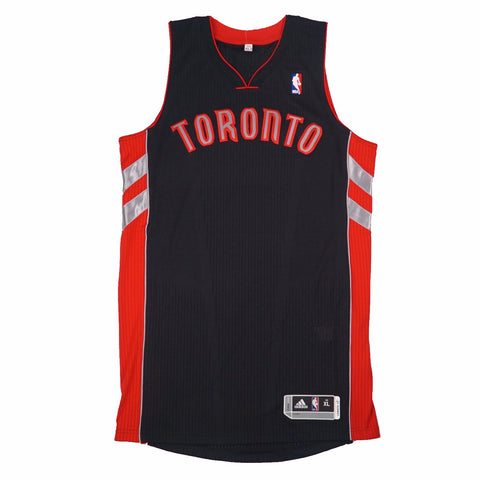 Toronto Raptors adidas Authentic On-Court Team Issued Pro Cut Black Jersey Men's