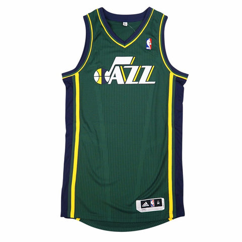 Utah Jazz adidas Authentic On-Court Team Issued Pro Cut Green Jersey Men's
