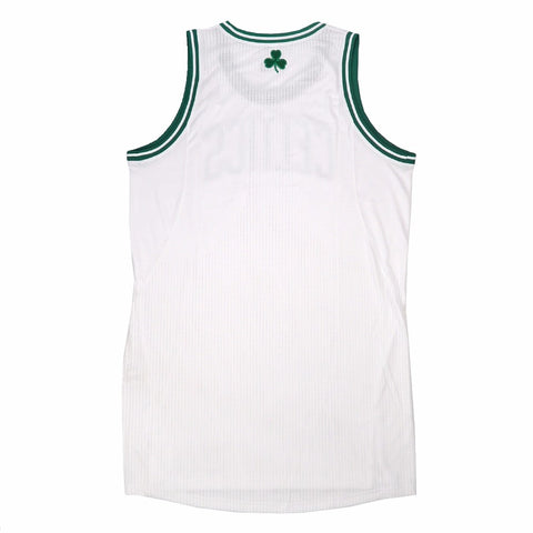Boston Celtics adidas Authentic On-Court Team Issued Pro Cut White Jersey Men's