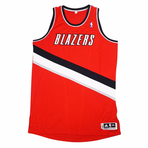 Portland Trail Blazers Authentic On-Court Team Issued Pro Cut Red Jersey Men's