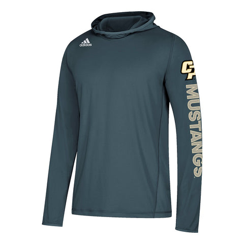 Cal Poly Mustangs NCAA Adidas Men's 2018 Sideline Onix Grey Training Hood