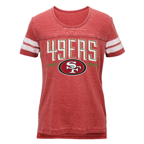 "San Francisco 49ers Outerstuff NFL Youth Youth Red Burnout ""Big Stack"" T-Shirt"