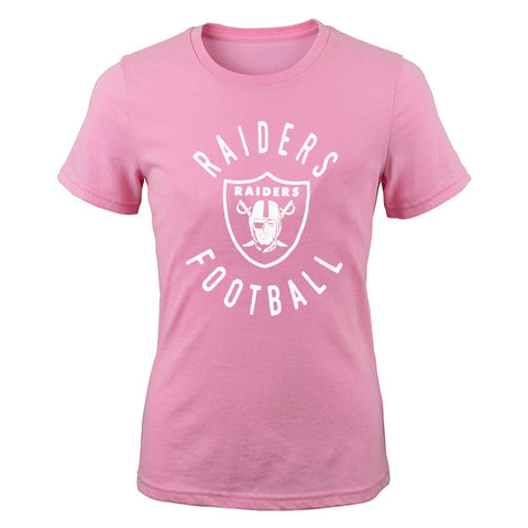 "Oakland Raiders Outerstuff NFL Youth Pink ""PK Full Circle"" T-Shirt"