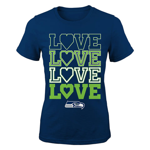 "Seattle Seahawks Outerstuff NFL Youth Navy Blue ""Emphatically"" T-Shirt"