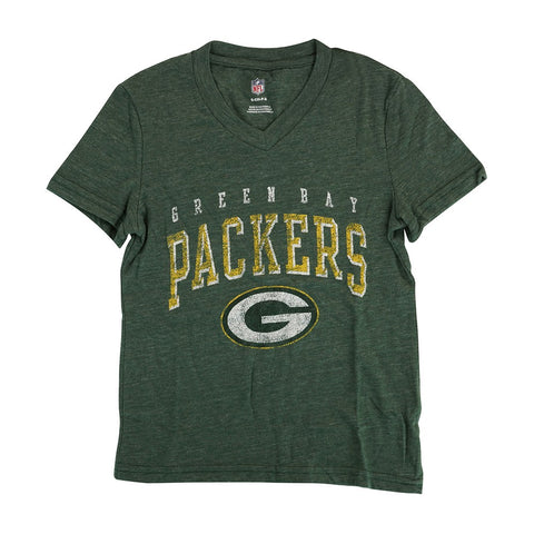 "Green Bay Packers NFL Youth Green ""Wheelhouse"" V-Neck Triblend T-Shirt"
