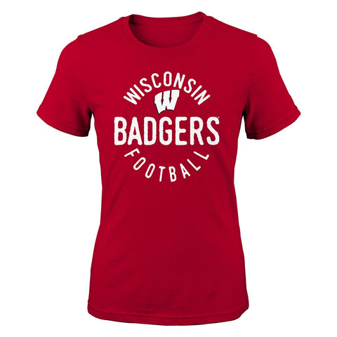 "Wisconsin Badgers NCAA Youth Red ""Full Circle"" T-Shirt"