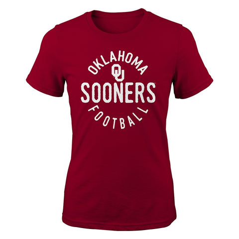 "Oklahoma Sooners NCAA Youth Red ""Full Circle"" T-Shirt"