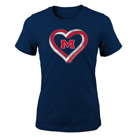 "Ole Miss Rebels NCAA Youth Red ""Infinite Heart"" T-Shirt"