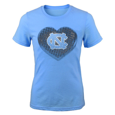 "North Carolina Tar Heels NCAA Youth Light Blue ""Water Colors"" T-Shirt"