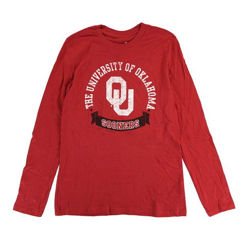 "Oklahoma Sooners NCAA Youth Red ""Blue Ribbon"" Long Sleeve T-Shirt"