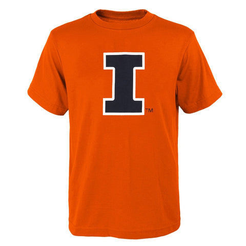 "Illinois Fighting Illini NCAA Outerstuff Youth Orange ""Clean Team Logo"" T-Shirt"
