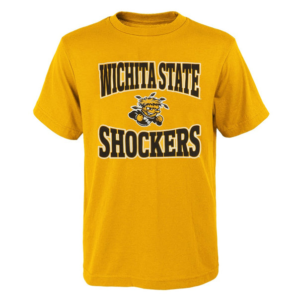 "Wichita State Shockers NCAA Outerstuff Youth Gold ""Clean Turf"" T-Shirt"