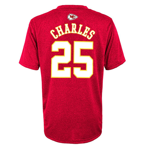 Jamaal Charles NFL Kansas City Chiefs Performance Mainliner Jersey T-Shirt Youth