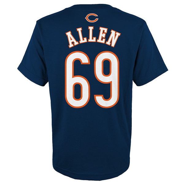 "Jared Allen NFL Chicago Bears ""Mainliner"" Player Jersey T-Shirt Youth (S-XL)"