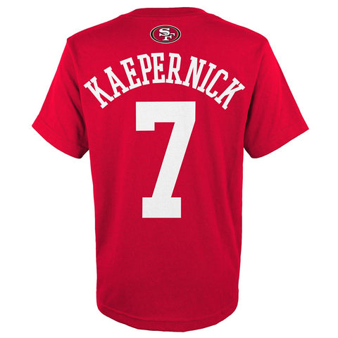 "Colin Kaepernick NFL San Francisco 49ers ""Mainliner"" Jersey T-Shirt Youth (S-XL)"