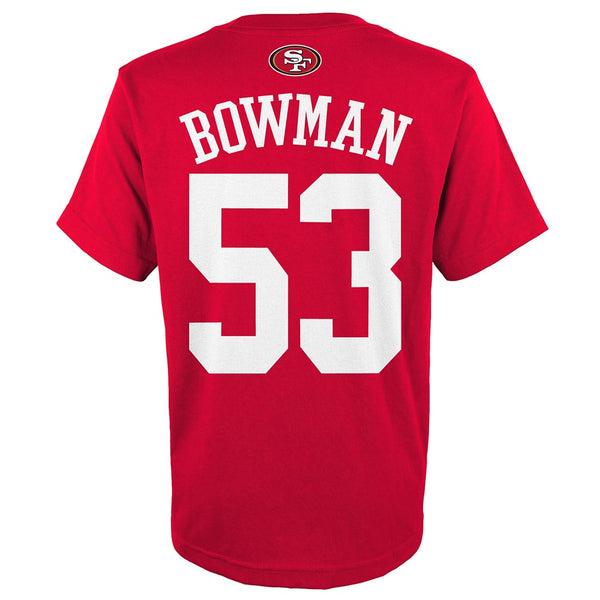 "NaVorro Bowman NFL San Francisco 49ers ""Mainliner"" Jersey T-Shirt Youth (S-XL)"