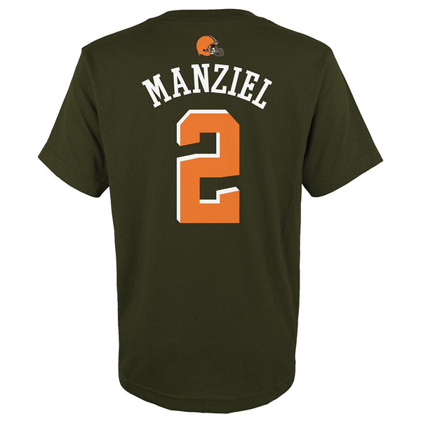 "Johnny Manziel NFL Cleveland Browns ""Mainliner"" Jersey T-Shirt Youth (S-XL)"