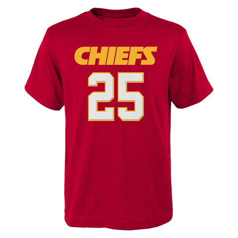 "Jamaal Charles NFL Kansas City Chiefs ""Mainliner"" Jersey T-Shirt Youth (S-XL)"