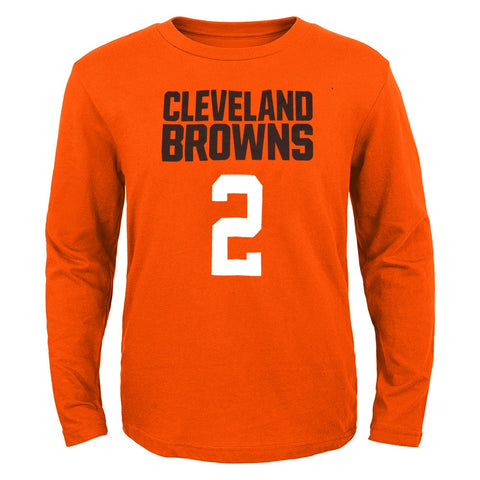 "Johnny Manziel NFL Cleveland Browns ""Mainliner"" Long Sleeve T-Shirt Youth"