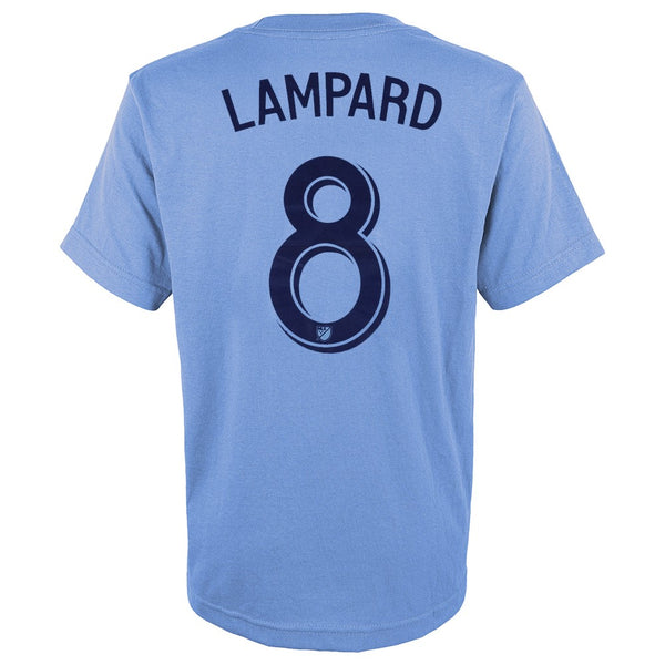 Frank Lampard MLS Adidas New York City FC Light Blue Jersey T-Shirt Youth (S-XL)