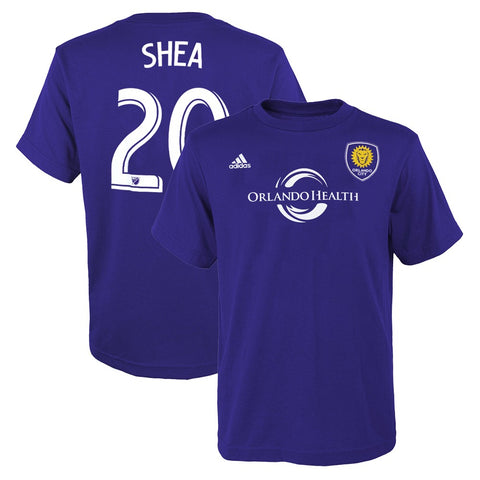 Brek Shea MLS Adidas Orlando City SC Purple Player Jersey T-Shirt Youth (S-XL)